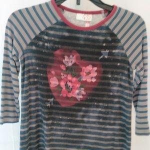 435 Matilda Jane Clothing Floral Girl's Shirt